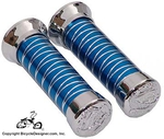 Deluxe Cross Line Bicycle Grips BLUE