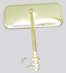 Lowrider Bicycle Mirror Rectangle GOLD (each)