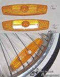 Wheel Reflectors - ORANGE