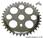 36 Tooth Sprocket Lucky 7 CHROME