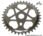 36 Tooth Sprocket Heart CHROME