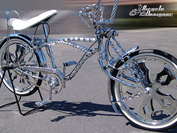 NEW Lowrider Steel Triple Flat Twisted Chain Guard Chrome Show Part Lowrider