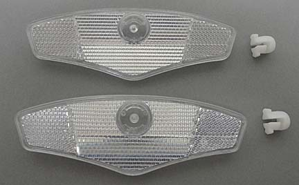 Bicycle Wheel Reflector Clear