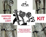 Chopper Bullet Light Kit CHROME