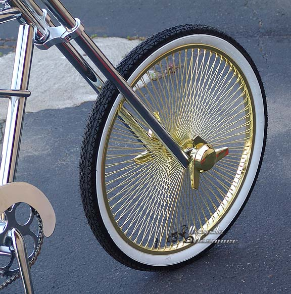 Gold Bicycle Wheels