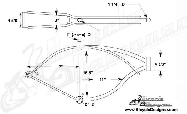 cruiser bicycle frame