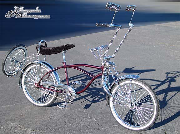 Burgundy Frame Lowrider Bikes