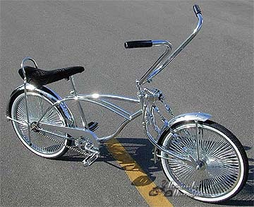 lowrider BICYCLE Blade Mirror Set Left Right  Chrome