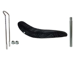 "26"" Black Veloure Banana Seat Kit"