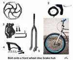 "Rigid Fork with 10"" Disc Brake Rotor Kit"