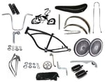 "Lowrider Bike Kit with 20"" 140 Spoke - BLACK"