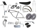 "Lowrider Bike Kit with 20"" 140 Spoke - CHROME"