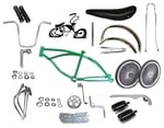 "Lowrider Bike Kit with 20"" 140 Spoke - GREEN"