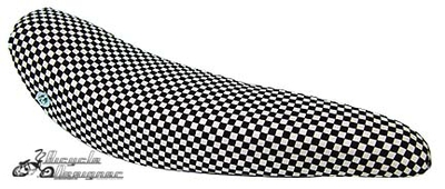 "20"" Bicycle Banana Seat Checker BLACK/WHITE"
