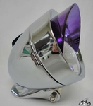 Bullet Light CHROME / PURPLE VISOR