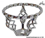 Lowrider Bicycle Triple Birdcage Steering Wheel CHROME