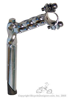 Bicycle HANDLEBAR Lowrider Stem Double Low rider Twisted Stem 22.2mm Chrome