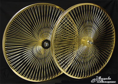 "26"" 140 Spoke Coaster Wheel Set GOLD"