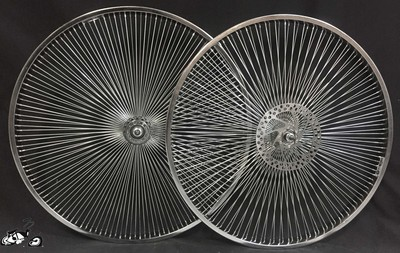 "26"" 140 Spoke Rear Free Wheel Front Disc Brake"
