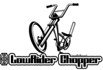 Lowrider Chopper Logo Sticker