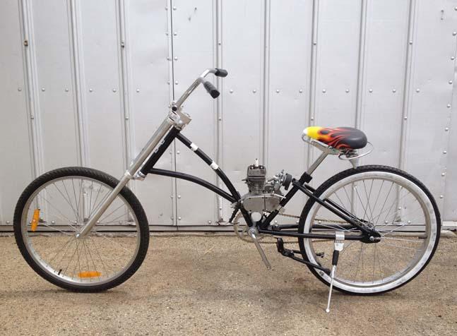 Diy Motorized Chopper Bicycle Frame