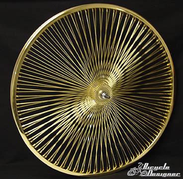 26 Quot 140 Spoke Front Wheel Gold