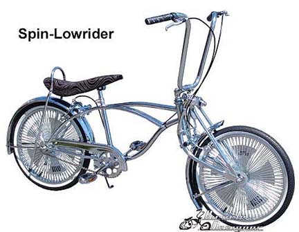 Lowrider Bicycle with Spinning Wheels