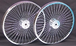 "20"" 68 Spoke Hollow Hub Wheel Set CHROME"