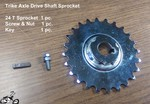 Trike Axle Drive Shaft Sprocket