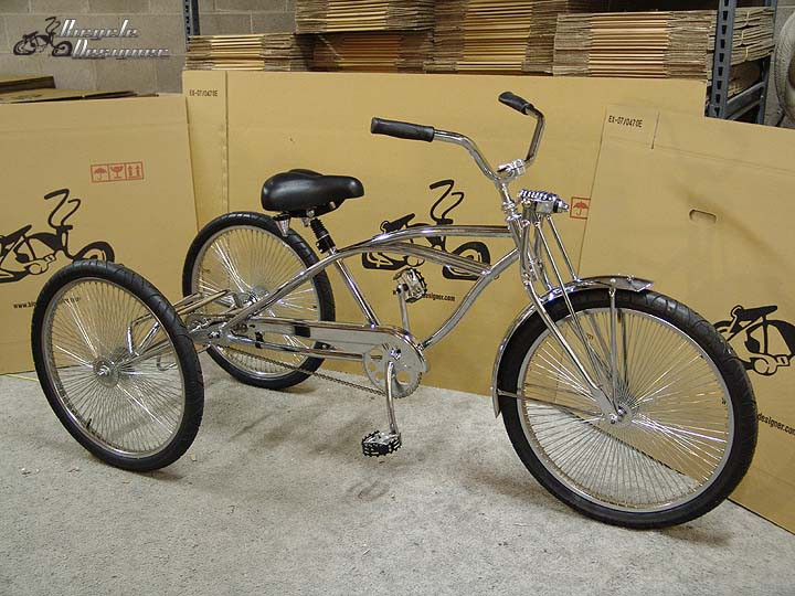"""NO FRAME CHROME Bicycle Bike to Tricycle Trike Conversion Kit Axle for 20/""""//26/"""""""