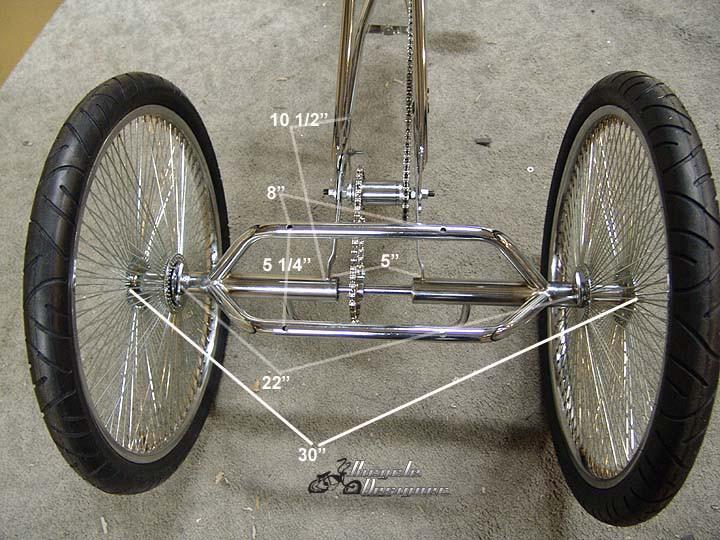 Trike Conversion Kit with 36 Spoke Hubs