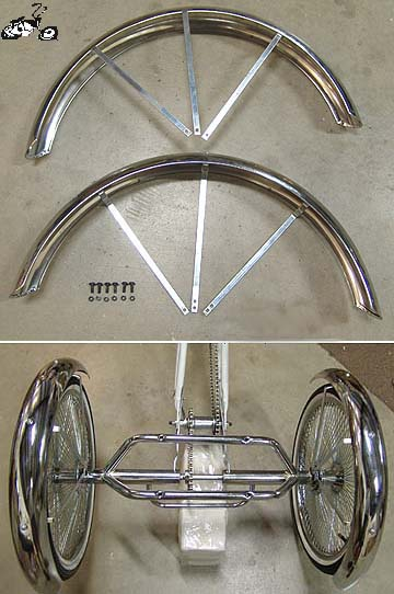 Lowrider Holow Hub Trike Fenders